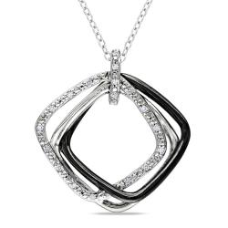 M by Miadora Sterling Silver 1/10ct TDW Diamond Fashion Necklace (H-I, I3)