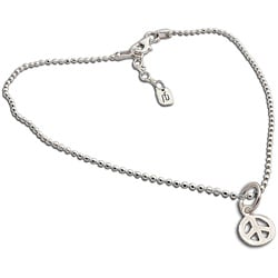 Sterling Silver Peace Anklet (Thailand)