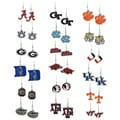 Silvertone NCAA Team Logo High-polish Metal Alloy Dangle Hook Earrings