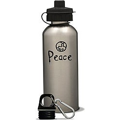 AffirmWater 17-oz 'I am Peace' Stainless Steel Water Bottle