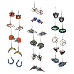 Silver-Tone Metal National Football League Team Dangle Earrings