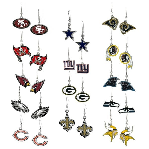 Silvertone National Football League Team Dangle Earrings
