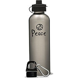 AffirmWater 26-oz 'I am Peace' Stainless Steel Water Bottle
