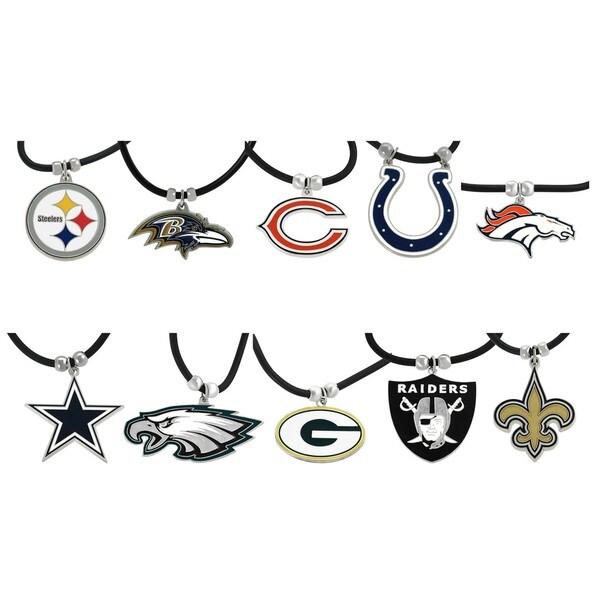 Silvertone NFL Team Cord Necklace
