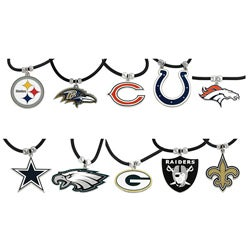 Silvertone NFL Team Cord Necklace