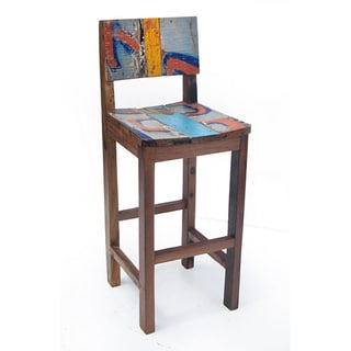 Ecologica Furniture Reclaimed Wood Bar Stool