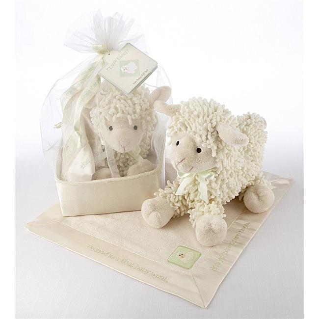 Baby Aspen 'Love Ewe' Plush Lovie Gift Set