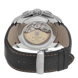 Tissot Men's 'Couturier' Black Dial Black Leather Strap Watch