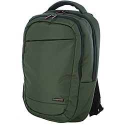 Olympia Boston Green 17.5-inch Deluxe Laptop Backpack