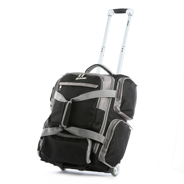 Olympia Casual Sports Black 22-inch Carry-on Upright