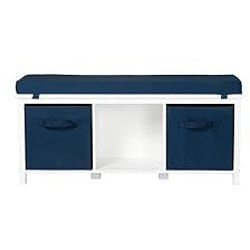 Storage Bench with Cushions and Storage Bins