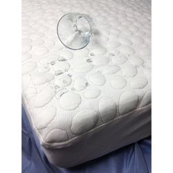 Dream Decor PebbleTex Organic Cotton Waterproof Queen-size  Mattress Pad