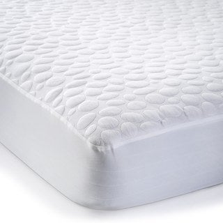 Christopher Knight Home PebbleTex Organic Cotton Waterproof Queen-size Mattress Pad Protector