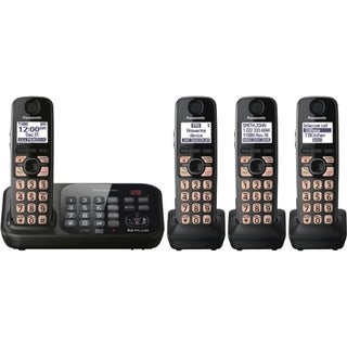 Panasonic KX-TG4744B DECT 6.0 1.90 GHz Cordless Phone - Black