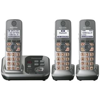 Panasonic KX-TG7733S DECT 6.0 1.90 GHz Cordless Phone - Silver
