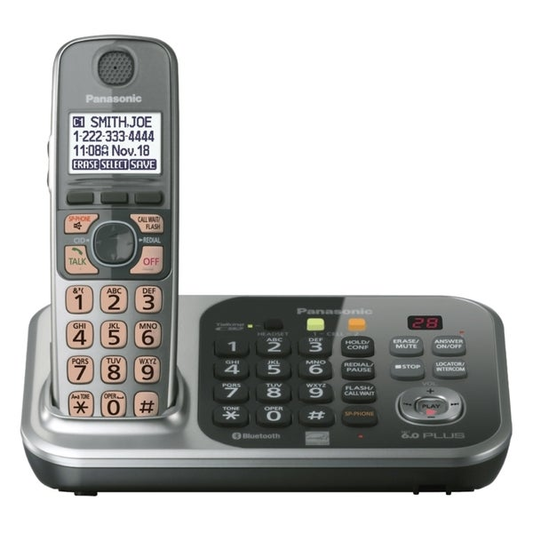 Panasonic KX-TG7741S DECT 6.0 1.90 GHz Cordless Phone - Silver