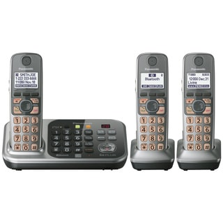 Panasonic KX-TG7743S DECT 6.0 1.90 GHz Cordless Phone - Silver