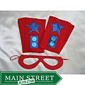 Power Capes Red and Blue Star Superhero Mask and Blaster Cuffs