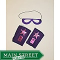 Power Capes Purple with Pink Star Superhero Mask and Blaster Cuffs Set
