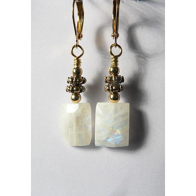 'Alexsis' Moonstone Earrings