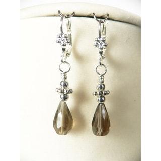 'Naomi' Smoky Quartz Earrings