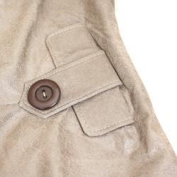 Women's Distressed Leather Designer Jacket (Ecuador)