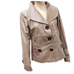 Women's Distressed Leather Designer Jacket (Ecuador)