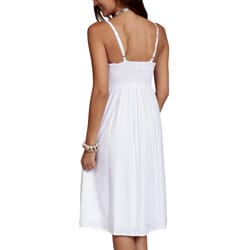 Women's White Summer Sun Dress (Indonesia)