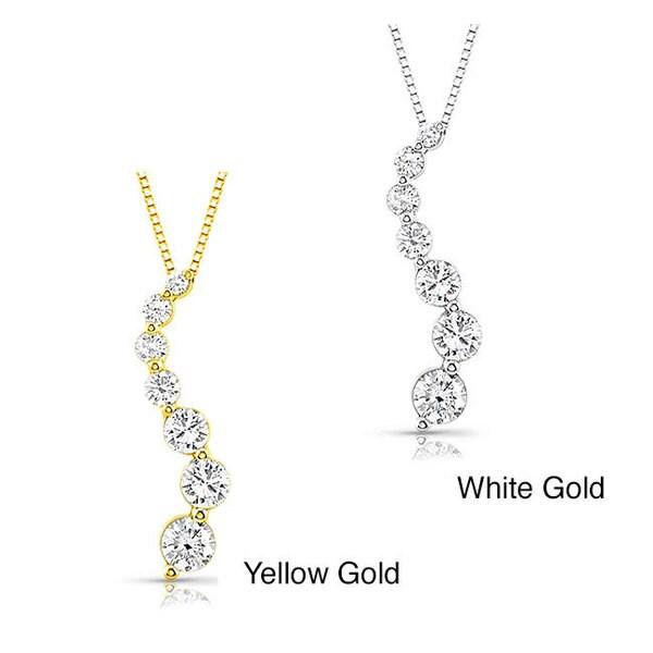 Auriya 14k Gold 3/4ct TDW Diamond Journey Necklace