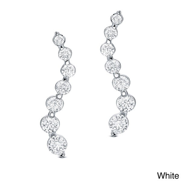 Auriya 14k Gold 1/2ct TDW Round Diamond Journey Earrings (G-H, I1)