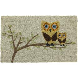 Give a Hoot Non-slip Coconut Fiber Doormat