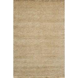 Hand-loomed Loft Gabbeh Wheat Wool Rug (5' x 8')
