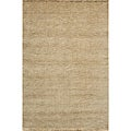 Hand-loomed Loft Gabbeh Wheat Wool Rug (5' x 8')
