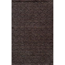 Hand-loomed Loft Links Charcoal Rug (8' x 11')