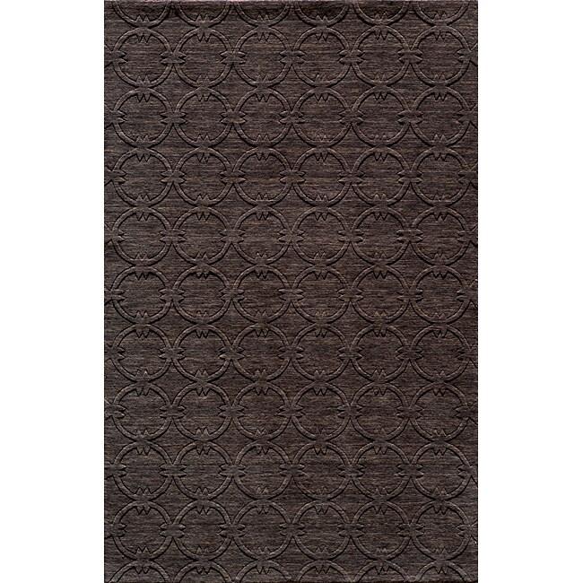 Loft Links Charcoal Hand-Loomed Wool Rug (5' x 8')