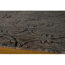 Hand-loomed Loft Links Charcoal Rug (5' x 8')