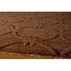 Hand-loomed Loft Links Copper Wool Rug (5' x 8')
