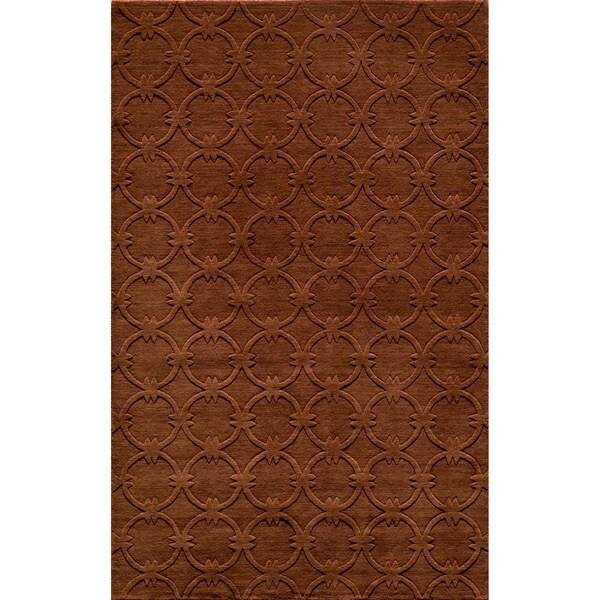 Loft Links Copper Hand-Loomed Wool Rug (5' x 8')