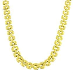 Fremada 10k Yellow Gold 17-inch Fancy Panther Link Necklace