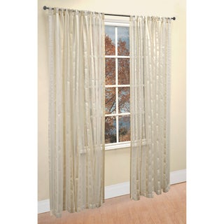 Picadilly White Ivory 2-piece Window Panel Set