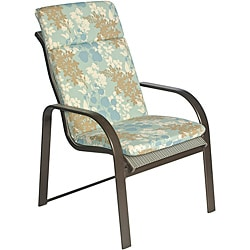Ali Patio Polyester Blue Floral Smooth Edge Hi-back Outdoor Arm Chair Cushion