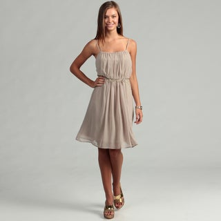 Calvin Klein Women's Khaki Bead Embellished Dress