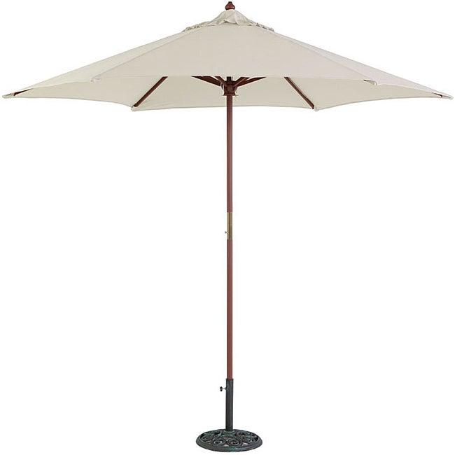 TropiShade 9-foot Natural Umbrella Shade