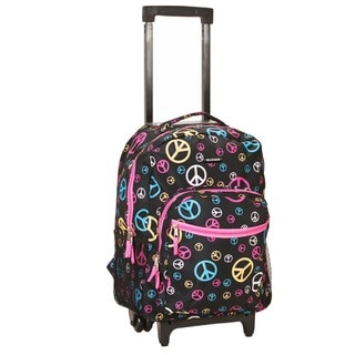 Rockland Deluxe Peace 17-inch Rolling Carry-On Backpack