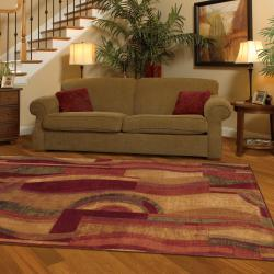 Picasso Multi Contemporary Rug Rug (5' x 8')