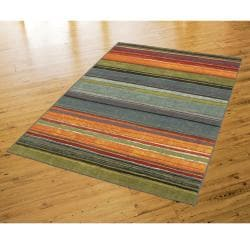 Rainbow Multi Stripe Rug Rug (5' x 8')