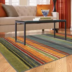 Mohawk Home Rainbow Multi Stripe Rug Rug (5' x 8')
