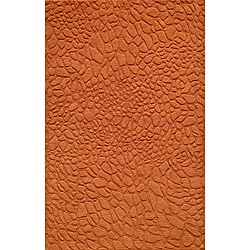 Hand-loomed Loft Stones Orange Wool Rug (3'6 x 5'6)