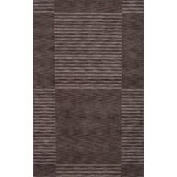 Hand-loomed Loft Charcoal Blocks Rug (8' x 11')