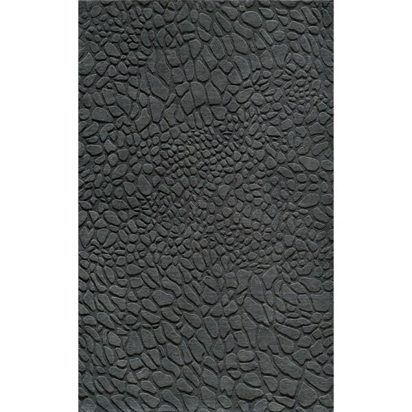 Loft Stones Lagoon Hand-Loomed Wool Rug (8' x 11')